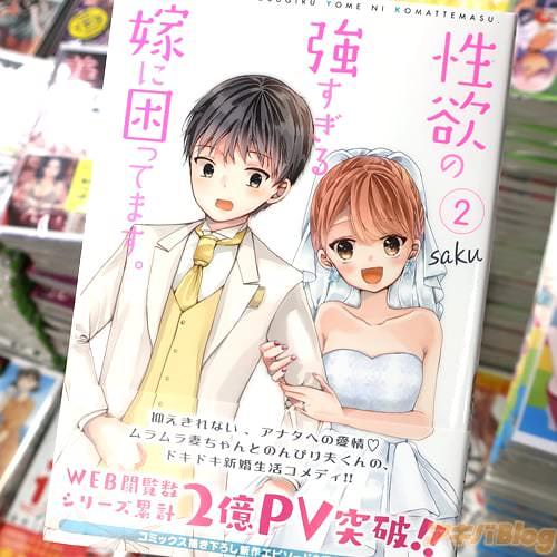 sakuの漫画「性欲の強すぎる嫁に困ってます。」2巻